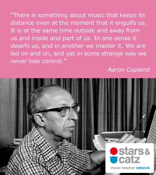 Aaron Copland Music Quote Image