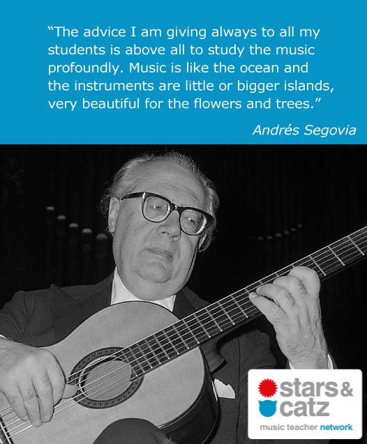Andrés Segovia Music Quote Image