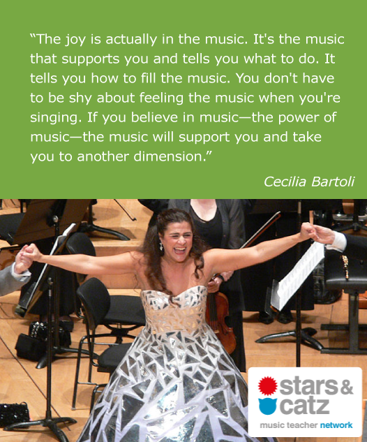 Cecilia Bartoli Music Quote Image.