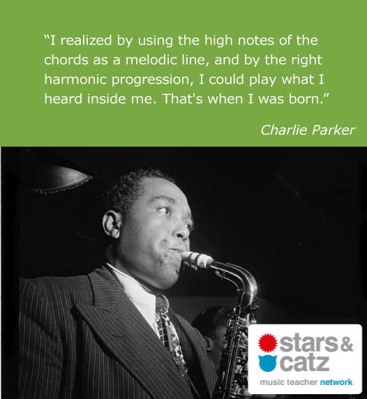 Charlie Parker Music Quote.