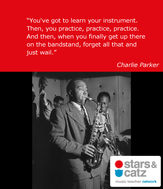 Charlie Parker Music Quote 2