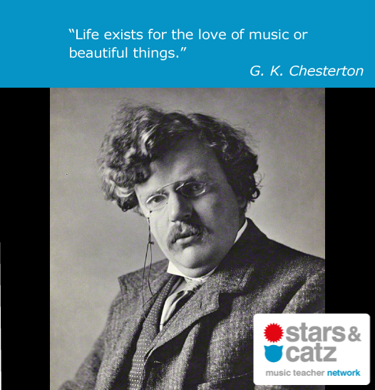 G. K. Chesterton Music Quote Image