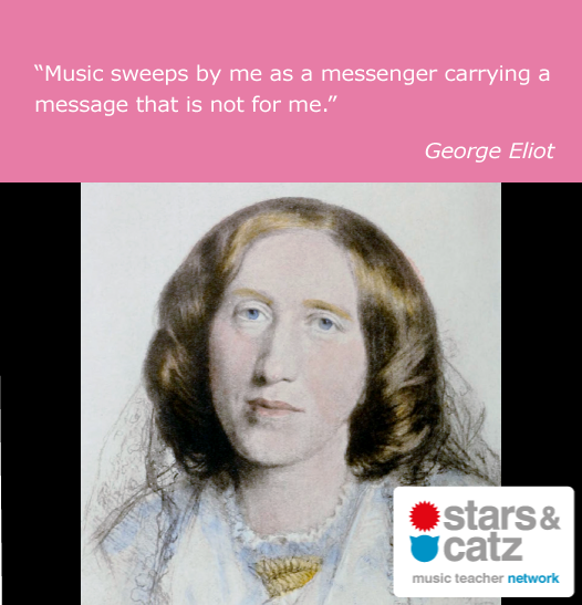 George Eliot Music Quote Image