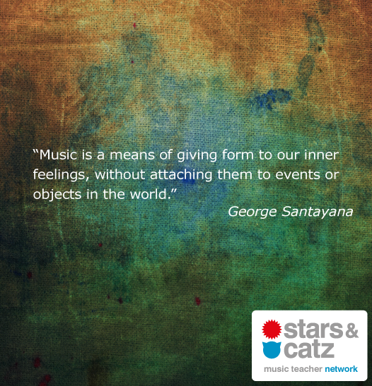 George Santayana Music Quote Image