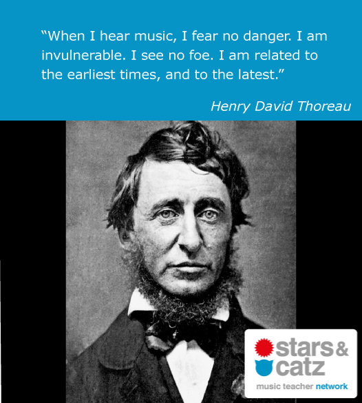 Henry David Thoreau Music Quote 1