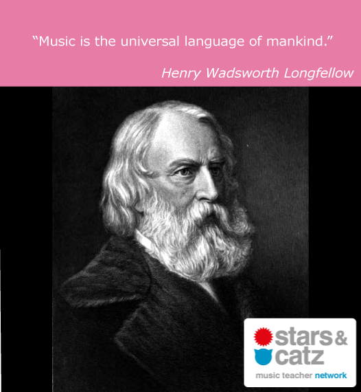 Henry Wadsworth Longfellow Music Quote Image
