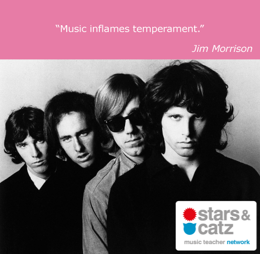 Jim Morrison Music Quote.