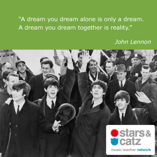 John Lennon Music Quote Image.