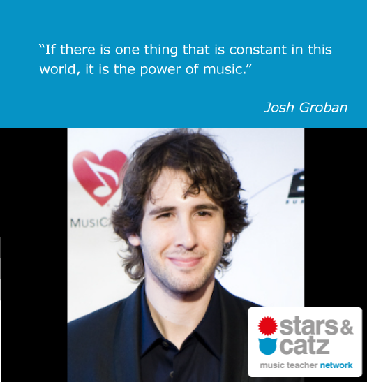 Josh Groban Music Quote Image.
