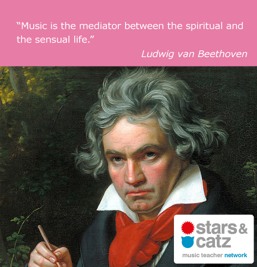 Ludwig van Beethoven Music Quote Image.