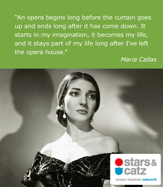 Maria Callas Music Quote.