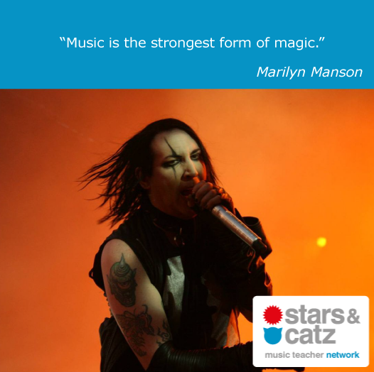 Marilyn Manson Music Quote Image.