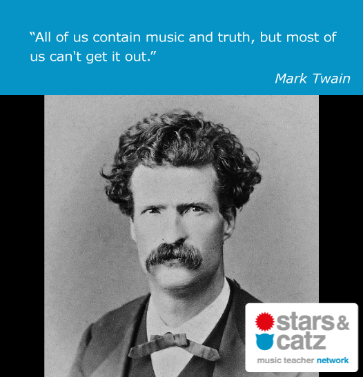 Mark Twain Music Quote 1 Image