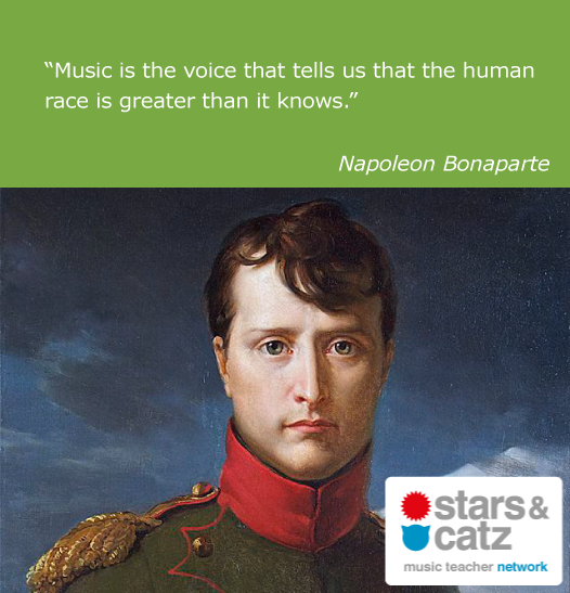 Napoleon Bonaparte Music Quote Image.