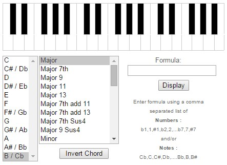 Free Piano Chord Dictionary Chord Finder