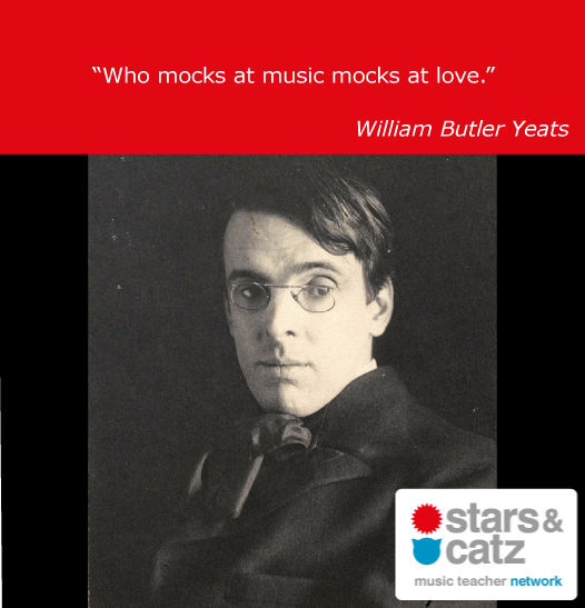 William Butler Yeats Music Quote.